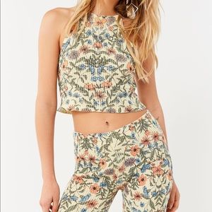 Urban Outfitters Floral Sweater Tank Top